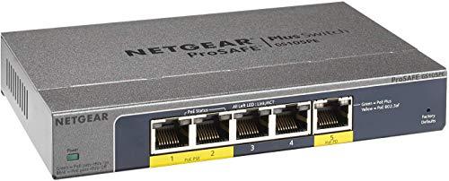 NETGEAR 5-Port PoE Gigabit Ethernet Plus Switch (GS105PE) - Managed, with 2...