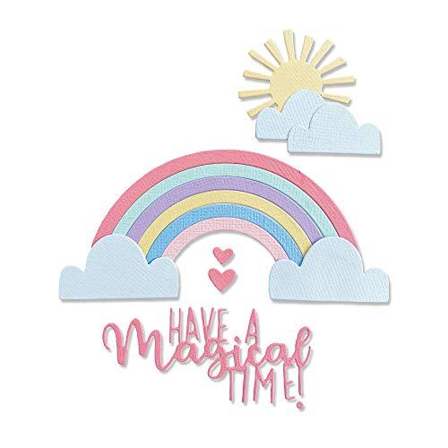Sizzix 665087 Fustella Thinlits Rainbow Magic di Olivia Rose Confezione da 8 Scrapbooking, Multicolor, Taglia unica
