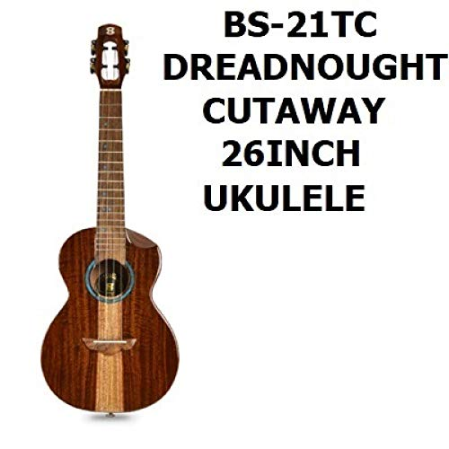 Gitarre Massivholz 26 Zoll Tonabnehmer Hawaiianische Gitarre Leistungsstufe Ukulele Helle Uklele Heimspiel 26 Zoll Ukulele-B_26_Inches