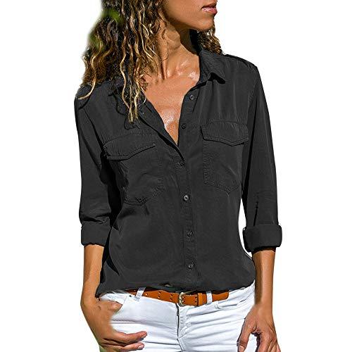 ITISME FRAUEN BLUSE Damen reich blumen button-down-hemd mit kurzen ärmeln schwarz klein