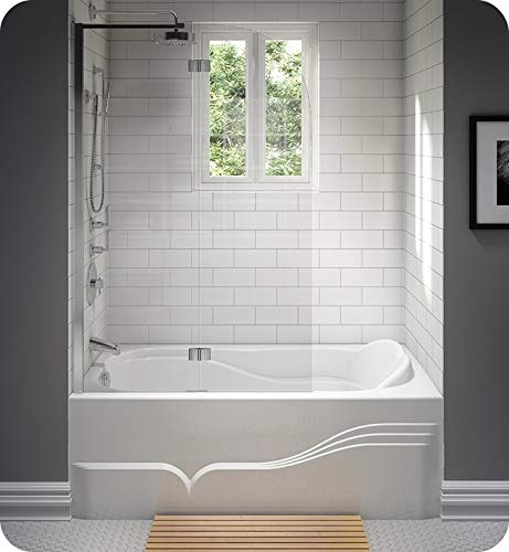 New NEPTUNE DAPHNE bathtub 32x60 with Tiling Flange, Left drain, Whirlpool/Activ-Air, Biscuit, High ...