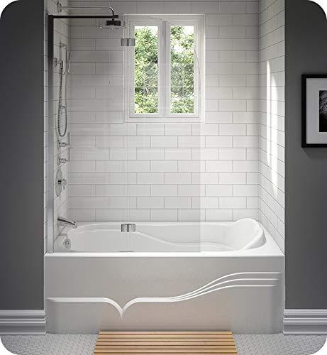 Sale!! NEPTUNE DAPHNE bathtub 32x60 with Tiling Flange, Left drain, Mass-Air, Black, High Gloss Acry...
