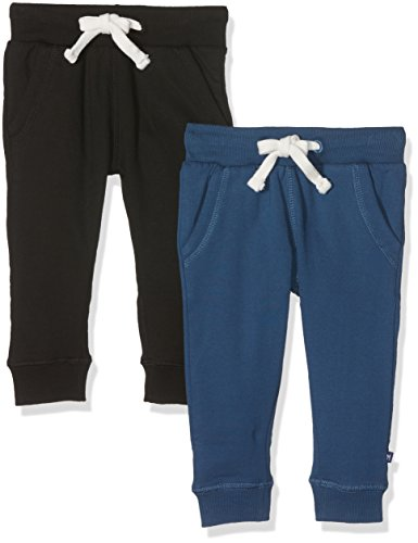 Magic Kids Jungen Sweathose, 2er Pack, Gr. 116, Mehrfarbig (Black 106)