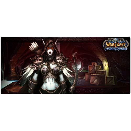 Mundo De Warcraft Gaming Mouse Pad |Xxl Mouse Pad |Base De 3mm De Espesor |El Escritorio De La PC Mouse Pad De Almohadillas De Alta Velocidad Es Ideal Para El Juego De La Oficina De La Computadora Por