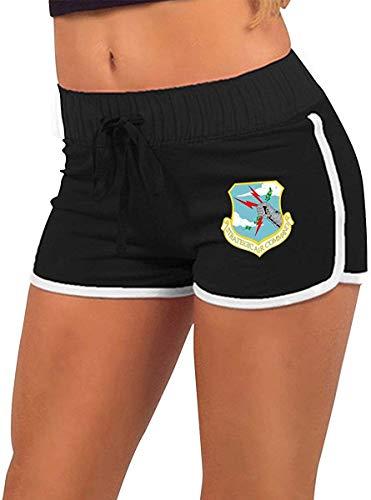 fshsh limeiliF Yoga Pantaloncini Pantaloncini da Uomo con Bottoni Automatici a Vita Bassa Sexy a Vita Bassa Sexy strategici Air Command Shorts con Coulisse in Vita