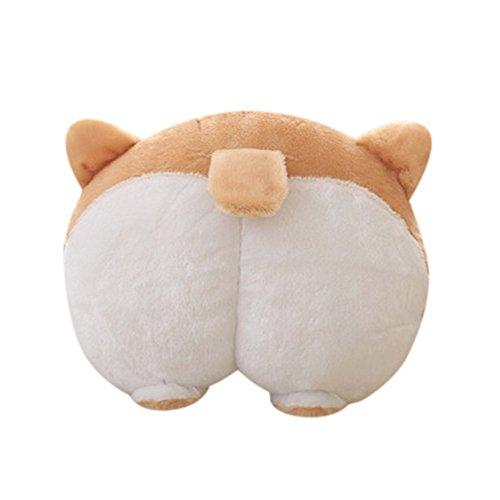 Corgi Bottom Car Seat Neck Pillow Dog Buttocks Headrest Cushion Plush Toy Car Accessories
