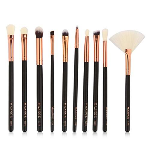 JoyRolly Professionnel 10 pièces/Ensemble Maquillage Brosses Cosmétiques Outil pour Dames