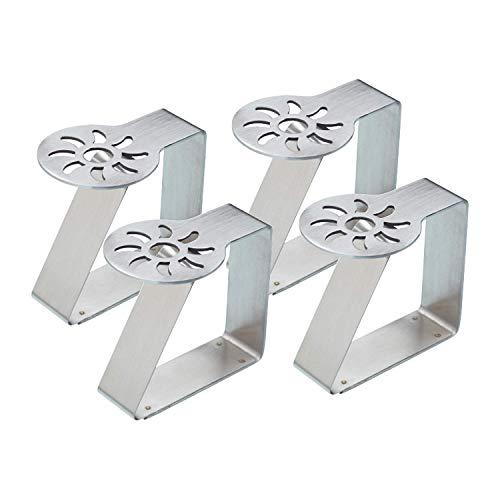 takestop® Tischdeckenhalter aus Stahl, Sonnenclip, 4 Stück, Federhaken, Garten, Zuhause, Camping