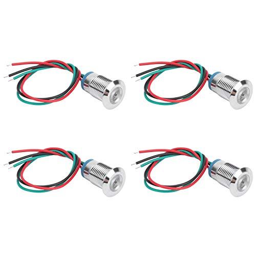 SALUTUYA 4 Juegos de Luces LED precableadas, Luces metálicas de 2 Colores Impermeables para cámara, Juguetes y diodos LED para automóviles DIY(Red Green)