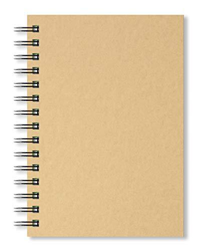 Artgecko Krafty Skizzenbuch A5 Portrait 80 Seiten (40 Blatt) 150gsm säurefrei Weiße Cartridge Papier
