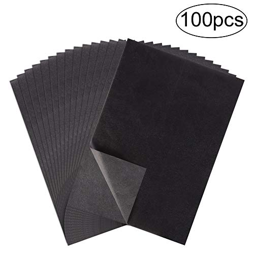 Yumi V 100 Blatt Kohlepapier Carbon Transferpapier für Papier, Metall, Glas, Schnitzen, DIY-Holzverbrennung Transfer Craft (A4 / 8,3 x 11,5 Zoll)