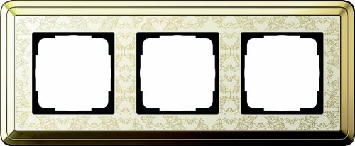 Gira 0213673 Abdeckrahmen 3-Fach Classix Art Messing, cremeweiß