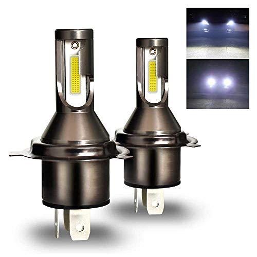 OOOUSE H4 Ampoule de Phare à LED, All in One Model 26000LM / Kit 6000K Kit de Conversion de Phare à Anti-Scintillement, Modèle Tout-en-Un-2 Pack