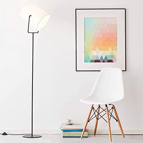 Lámpara de pie, 1 foco, 1 bombilla E27 máx. 60 W, metal/textil, negro/blanco.