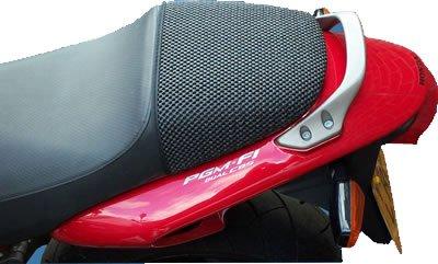 Cubierta TRIBOSEAT para Asiento Antideslizante Accesorio Personalizado Negro Compatible con Honda X11 (1999-2002)