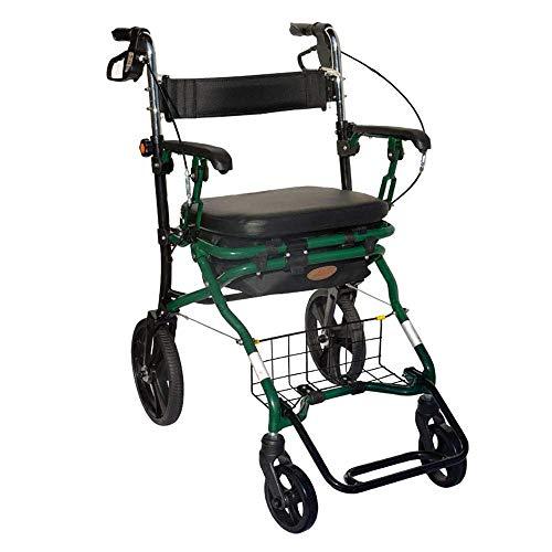 HYYQG Rollator de Aluminio, Ligero Andador para Ancianos con Asiento y Desmontable...