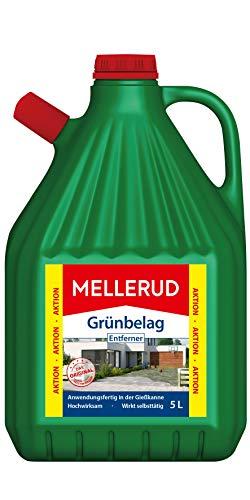 MELLERUD Grünbelag Entferner – Effizientes Reinigungsmittel zum Entfernen von Algen und Grünbelag – 1 x5 l