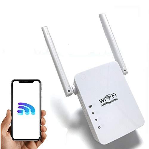 FONCBIEN Ripetitore WiFi Wireless,300Mbps Amplificatore Segnale Wi-Fi Range Extender WiFi Repeater,modalità AP Repeater, Porta LAN RJ45, 2 Antenne, Compatibile con Modem Fibra e ADSL