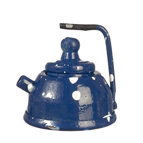 Melody Jane Puppenhaus Blau Spot Wasserkocher Metall Küche Zubehör 1:12 Maßstab