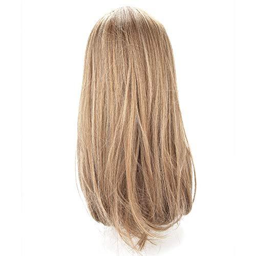 Cabello largo y liso para niña, peluca rubia clara de gradiente larga y recta Mujeres Lady Cosplay Party Pelucas elegantes para niña Pelucas de fiesta de cosplay sintéticas amigables con el