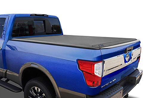 Tyger Auto T3 Soft Tri-Fold Truck Bed Tonneau Cover Compatible with 2017-2021 Nissan Titan Without Titan Box | Fleetside 5.5