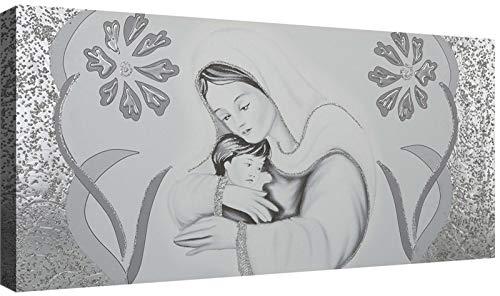 canvashop Quadro Capezzale Sacra Famiglia 05 Quadri Moderni Soggiorno Stampa su Tela con Telaio cm 120x60 Camera da Letto