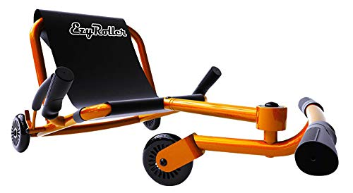 EzyRoller Classic - Orange - Ride On for Children Ages 4+ Years Old - New Twist on Scooter - Kids Move Using Right-Left Leg Movements to Push Foot Bar - Fun Play and Exercise for Boys and Girls