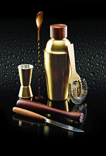 Kitchen Craft Cocktailzubehör-Set Bar Craf mit Messingausführung in Gold 6-teilig, Messing, 12 x 17 x 22 cm, 6-Einheiten - 3