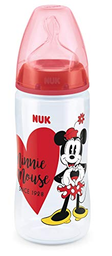 Read About NUK First Choice Disney Minnie Mouse Baby Bottle 300 ml with Anti-Colic Latex Teat Size 2...