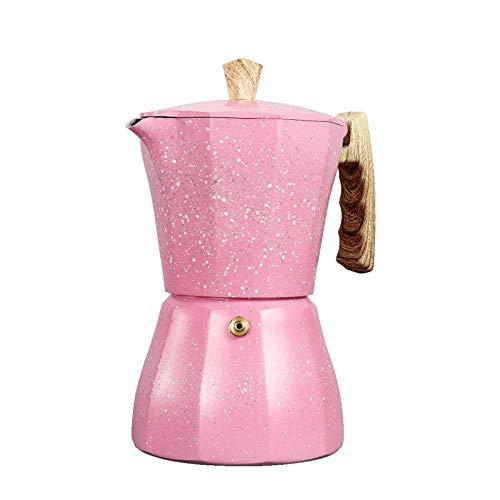 Cafetera Espresso, Jabroyee - Cafetera italiana de aluminio, 3 tazas de capacidad, mango ergonómico, válvula de seguridad, filtro desmontable
