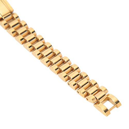 Accesorios de joyería, correa de reloj de oro de moda de alta calidad de aleación de acero inoxidable, para hombres y mujeres