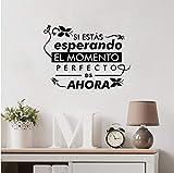 Spanische Wandtattoos Spanisches Leben Zitat Vinyl Wandaufkleber Wohnkultur Wohnzimmer Dekoration 57 * 42Cm
