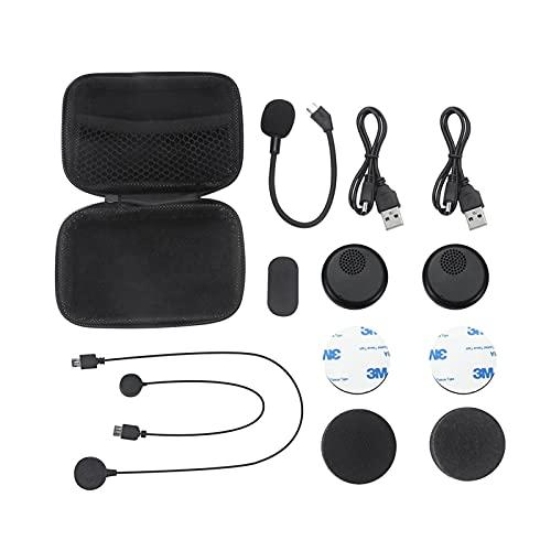 shiqi Casco de Motocicleta Casco Inalámbrico Bluetooth Auriculares Manos Libres Auriculares Auriculares Ajuste para Música GPS Coche Estilo