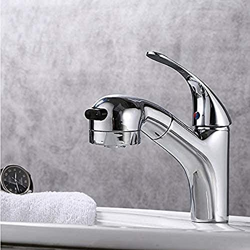 Grifo Pullable Basin Faucet Hot And Cold Single Hole Wash Basin Faucet Wash Basin Sink Faucet