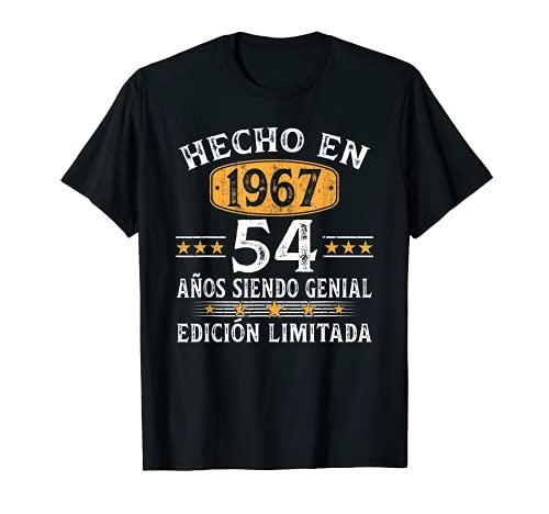 54 Años Cumpleaños Regalo Para Hombre Mujer Hecho En 1967 Camiseta