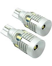ONSUNLED T10/T16 ウェッジ球 爆光10連LEDバルブ ポジションランプ バックランプ 無極性 定電流 ホワイト 一年保証付き【2個セット】
