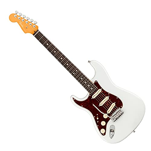 Fender American Ultra Stratocaster Left-Handed Electric Guitar Arctic Pearl