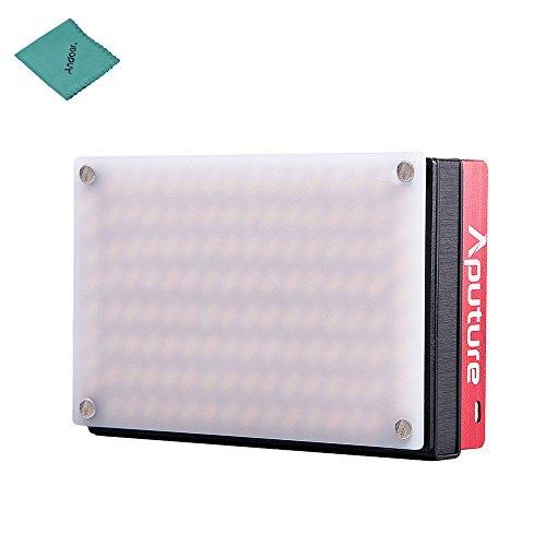 Aputure AL-MX Mini LED Lumière Vidéo 2800K-6500K Température de Couleur CRI95 + 128 pcs LED Perles Luminosité Réglable Batterie au Lithium Intégrée avec Sac de Transport de Chaussure Froide