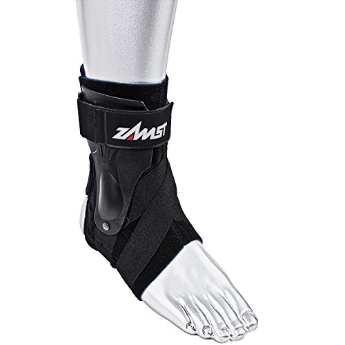 Zamst Ankle Brace Support Stabilizer: A2-DX Mens & Womens Sports Brace for Basketball, Soccer, Volleyball, Football & Baseball,Black,Left,X-Large