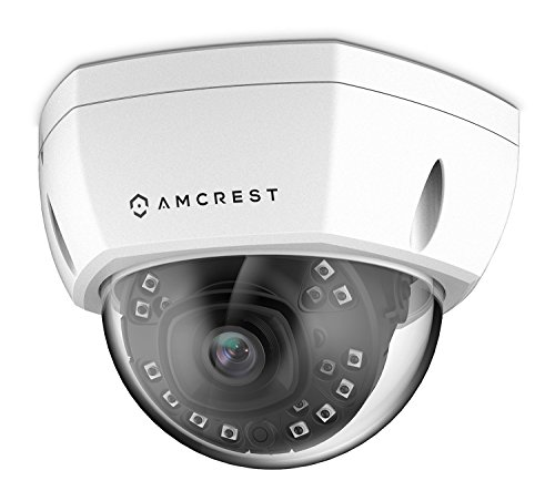 Amcrest ProHD Outdoor 1080P PoE Vandal Dome IP Security Camera - IP67 Weatherproof, 2MP (1920 TVL), IP2M-851EW (White)