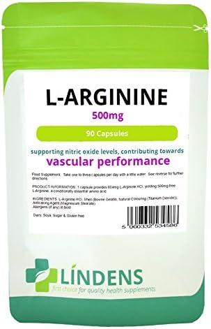 Lindens Rare L-Arginine 500mg 2-Pack Max 52% OFF 180 Arginine Capsules Nitric L O