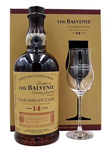 The Balvenie Whisky Caribbean Cask 14 Jahre 0,7l + 1 Glas in Geschenkpackung