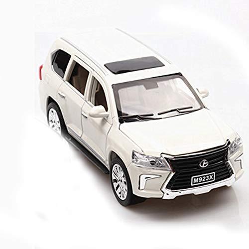 NMBE 1:24 Modelo De Aleación De Automóviles para SUV W / 6 Puertas Longitud Abierta 20 Cm Luz De La Colección/Diseño De Sonido Modelo De Auto (Color : White, Size : 1)