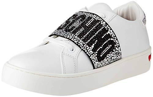 Love Moschino SS21, Zapatillas Deportivas Mujer, Dorado, 39 EU
