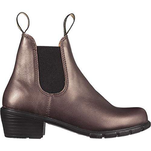 Blundstone Chelsea-Stiefel für Damen, Nubukleder, Schwarz, Gold (bronze), 39 EU