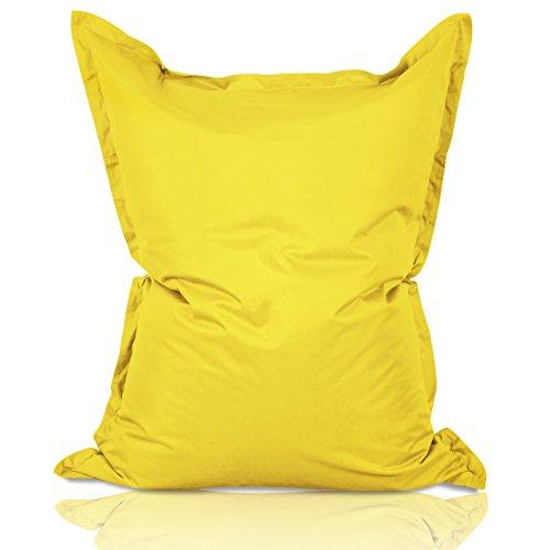 Lumaland - Grote luxe XXL zitzak - 380 liter vulling - 140 x 180 cm - geschikt voor Indoor & Outdoor - verkrijgbaar in verschillende kleuren - Geel