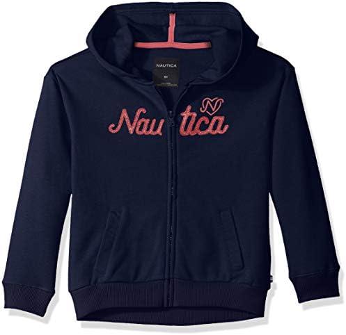 5 Nautica Girls/' Long Sleeve Hoody Medium Green Fleece