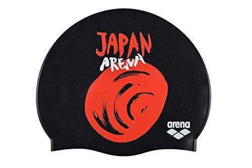 Arena Flags Silicone cap, Cuffie da Nuoto Unisex Adulto, Nero (Japan), Taglia Unica