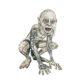 Wee Blue Coo Gollum Lord Rings Tattoo Inked Ikon By W.maguire Wall Art Print