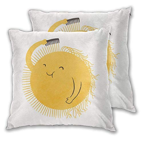 Cushion Covers Good Morning Sunshine In Polyester 45 x 45 CM / 18 x 18 inch cushion coveres